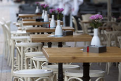 Sofia Cafe Tables Street Stock Image