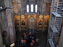 In the Sofia Cathedral excursion. royalty free stock images