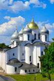 Sofia cathedral in Novgorod. Royalty Free Stock Images