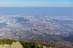 Sofia city , Bulgaria from above Stock Image