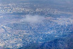 Sofia city , Bulgaria from above. Aerial view from Vitosha mountain Stock Photos