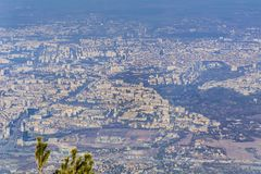 Sofia city , Bulgaria from above. Aerial view from Vitosha mountain Stock Photography