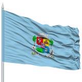 Sofia City Flag sur le mât de drapeau Image stock