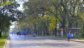 Sofia city marathon streets Stock Photos