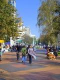 Sofia city park alley,Bulgaria Royalty Free Stock Photo