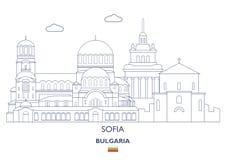 Sofia City Skyline, Bulgaria Stock Image