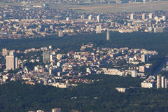 Sofia City with Some Green Areas Royalty Free Stock Images