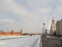 Sofia Embankment in Moscow Royalty Free Stock Photo
