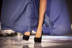 Sofia Fashion Week model's legs Stock Photo
