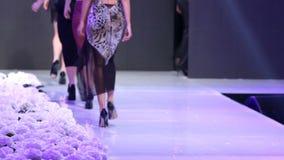 Sofia Fashion Week-Modelle von ihren Rückseiten stock video footage
