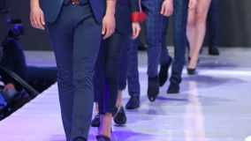 Sofia Fashion Week Nur Körper stock video