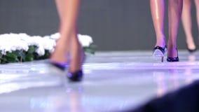 Sofia Fashion Week-Schwarzschuhe stock video footage