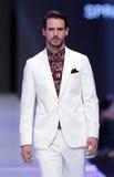 Sofia Fashion Week white suit Stock Photos