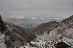 Sofia från det Vitosha berget Royaltyfri Fotografi