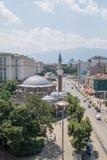 Sofia i stadens centrum Bulgarienhuvudstad Arkivbilder