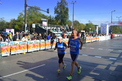 Sofia International maratondeltagare Royaltyfri Bild