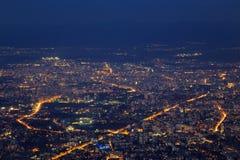 Sofia la nuit Image libre de droits