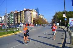 Sofia  Marathon downtown boulevard runners Stock Photos