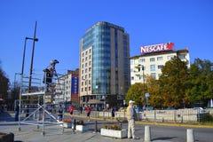 Sofia  Marathon downtown street view Stock Photo