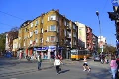 Sofia Marathon gator Arkivbilder