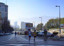 Sofia Marathon scenisk sikt Arkivfoton