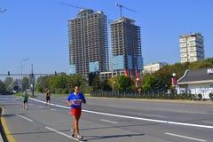 Sofia Marathon scenisk sikt Arkivbilder