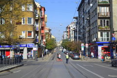 Sofia  Marathon streets Royalty Free Stock Photos