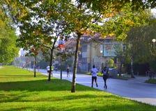 Sofia  Marathon streets Royalty Free Stock Photo