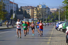 Sofia maratonlöpare Arkivbilder
