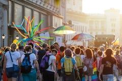 Sofia Pride Parade Participants imágenes de archivo libres de regalías