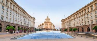 Sofia przy zmierzchem - Bułgaria obraz stock