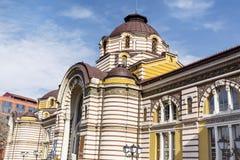 Sofia Public Bathhouse. SOFIA-BULGARIA,FEBRUARY 02 Old mineral bath house in Sofia, Bulgaria royalty free stock photo