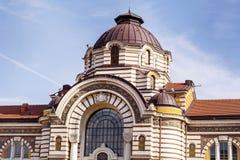 Sofia Public Bathhouse. SOFIA-BULGARIA,FEBRUARY 02 Old mineral bath house in Sofia, Bulgaria royalty free stock image