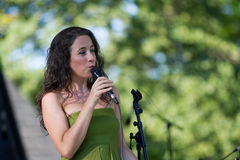 Sofia Riberio at SummerStage in NYC's Central Park 2017 stock photos