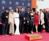 Sofia Richie, Miles Richie, Nicole Richie, Lionel Richie, Lisa Parigi e Benji Madden fotografie stock