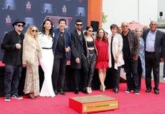 Sofia Richie, Miles Richie, Nicole Richie, Lionel Richie, Lisa Parigi och Benji Madden royaltyfria foton