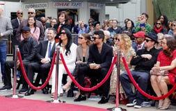 Sofia Richie, Miles Richie, Nicole Richie, Samuel L Jackson, Lisa Parigi e Benji Madden imagem de stock