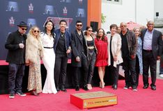Sofia Richie, Miles Richie, Nicole Richie, Lionel Richie, Lisa Parigi and Benji Madden. At Lionel Richie Hand And Footprint Ceremony held at the TCL Chinese stock photos