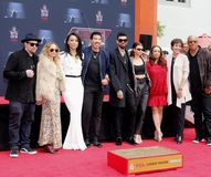 Sofia Richie, Miles Richie, Nicole Richie, Lionel Richie, Lisa Parigi and Benji Madden stock photos