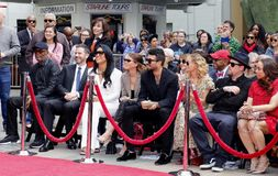 Sofia Richie, Miles Richie, Nicole Richie, Samuel L. Jackson, Lisa Parigi and Benji Madden. At Lionel Richie Hand And Footprint Ceremony held at the TCL Chinese stock image