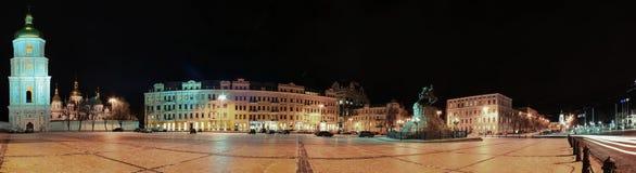 Sofia's Square Kiev. Monument to Bogdan Stock Photo