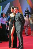Sofia Skaya and Christian Slater at Moscow Film Festival Royalty Free Stock Photography