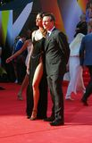 Sofia Skaya and Christian Slater at Moscow Film Festival Stock Image