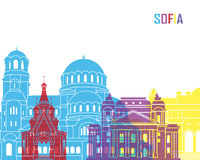 Sofia skyline pop Royalty Free Stock Images