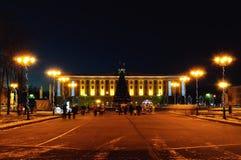 Sofia Square durante los días de fiesta del Año Nuevo en Veliky Novgorod, Rusia Foto de archivo libre de regalías
