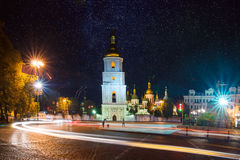 Sofia square at night Stock Photography