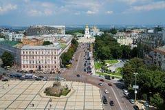 Sofia square and St. Michael Monastery, Kiev Royalty Free Stock Image