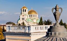 Sofia, St. Aleksander Newski catedral Stock Image