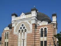 Sofia Synagogue Bulgaria är det tredje störst i Europa arkivbild