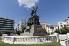 Sofia Tsar Alexander II Monument. Restored monument of Tsar Alexander II of Russia in Sofia Stock Photos